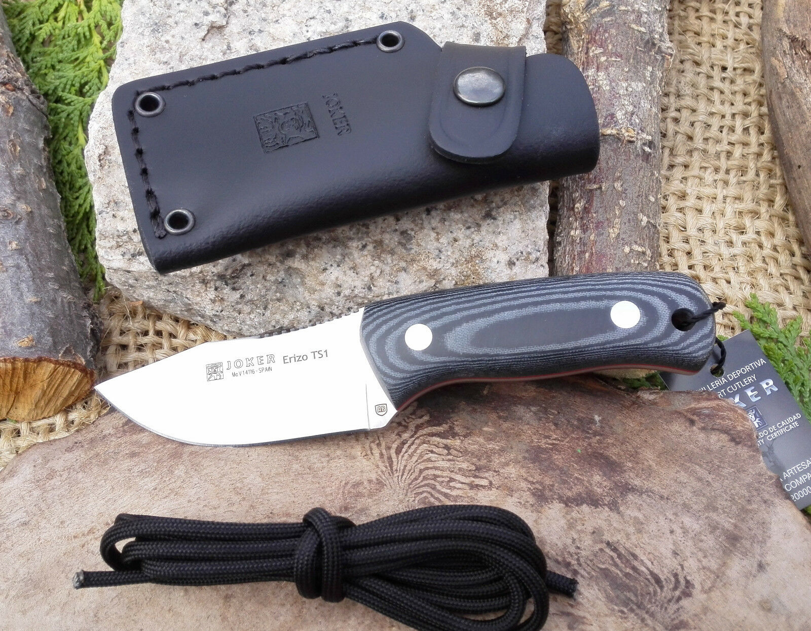 Cuchillo JOKER ERIZO ERIZO ERIZO TS1 CM81 Hoja 7,5 cm Acero Mova 1.4116 KNIFE MESSER COUTEAU bf5018
