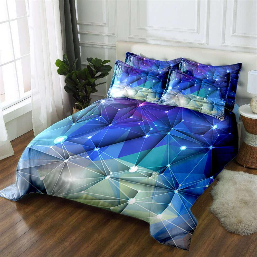 Constellation Story 3D Druckening Duvet Quilt Will Startseites Pillow Case Bettding Set