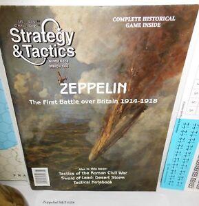 Strategy-amp-Tactics-MAG-w-UNP-GAME-159-Zeppelin-Battle-over-Britain-1914-18-op