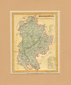1840-mounted-map-of-bedfordshire-engraved-for-dugdales