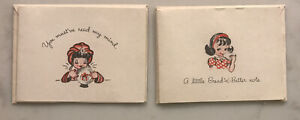 Vintage-Blank-Note-Cards-Greeting-Card-Lot-Of-2-Cute-Little-Girl-Fortune-Teller