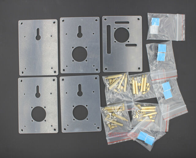 Stacked 4 Floors Clear Raspberry PI 2 Case Half Open Frame Enclosure x1pcs