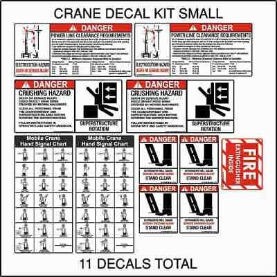 6 Crane Boom Angle Indicator Decal Kit