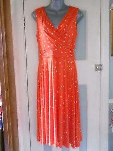 NWT-spotted-stretch-jersey-red-skater-dress-UK12-EU40-US8-Monsoon