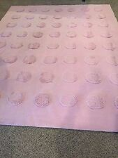 Pottery Barn Pink Plush Puff Rug 8ft x10ft in good condition