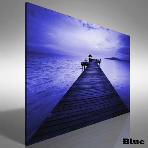 Beautiful Jetty Sunset Canvas Print Large Picture Wall Print