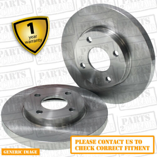 Rear Solid Brake Discs Ford Sierra 1.6 Saloon 87-93 75HP 253mm