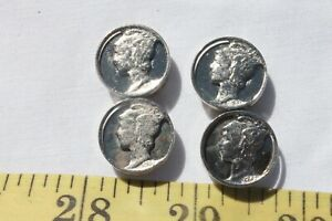 Dime-Head-Button-Cover-039-s-Metal-Sewing-Buttons-Colectibles-4pcs