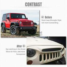 Auto Front Grille Grill Ghost Style Mesh Hood Grid For 07-16 Jeep Wrangler JK