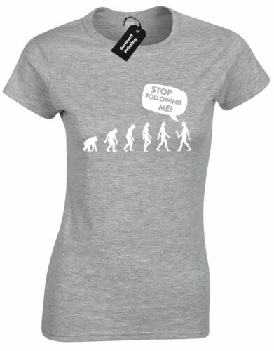 STOP FOLLOWING ME LADIES T SHIRT FUNNY NEW QUALITY TOP TUMBLR HIPSTER FASHION