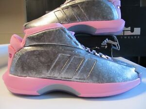 outlet store ad431 313fa Image is loading Adidas-Crazy-1-JOHN-WALL-PE-Silver-Think-