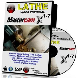 MASTERCAM-X1-X7-LATHE-Video-Tutorial-HD-FREE-SHIP-TRAINING-COURSES-X2-3-4-5-6