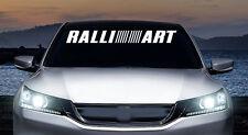 Ralliart windshield banner vinyl decal, sticker, car, trucks
