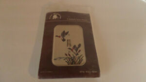 Fond Memories Counted Cross Stitch Kit Single Ducks Acrylic Switchplate -  NEW!!