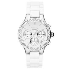 NIB DKNY Broadway White Ceramic Quartz Ladies' Watch NY8894 MSRP $275