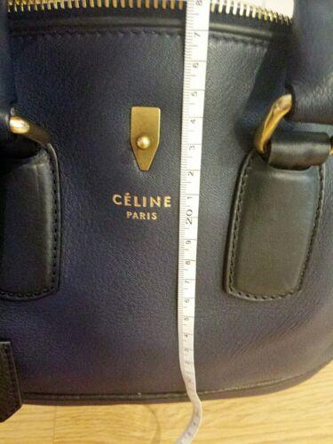 Celine Cuero Nuevo Marino Tote Azul Bolso De Sx5CqR7