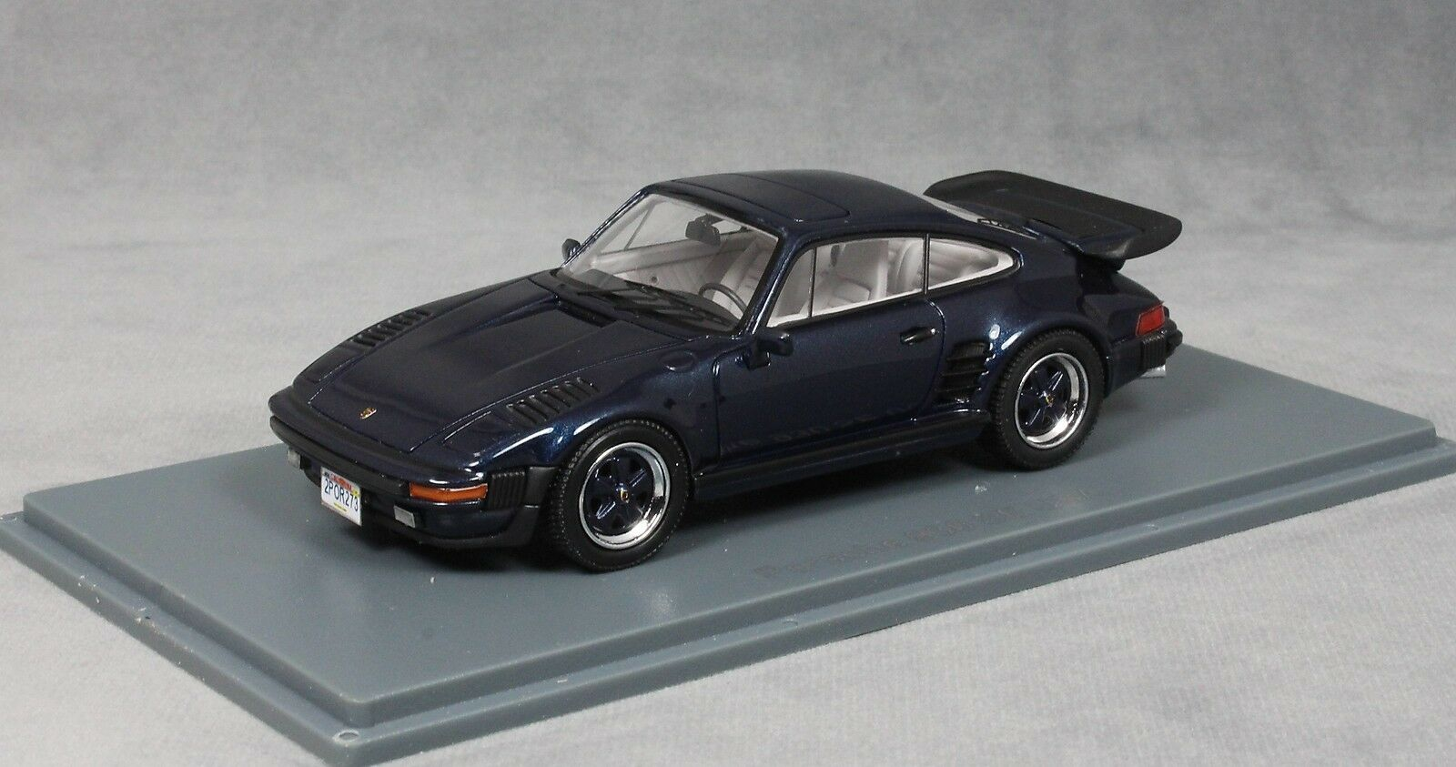 NEO Models Porsche 911 930 Turbo se FLATNOSE in blu metallizzato 1987 43273 NEW