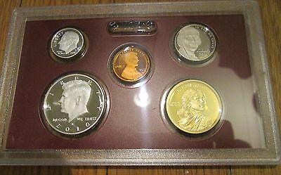 2010 S U.S.Mint 5 Pc Silver Proof Set Partial No Box//Coa 90/% Kennedy Dime