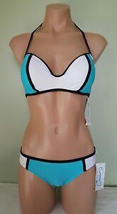 California Waves blue white push up Bikini set size S ML