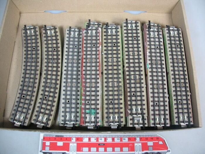 R672-2#34x Märklin/Marklin H0 Pezzi Pista / Binari M Pista 3600/800 Terza Rotaia