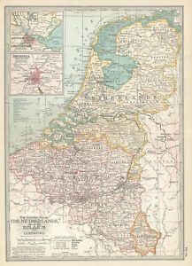 """1897 """"Netherlands, Belgium and Luxemburg"""" by The Century Co"""