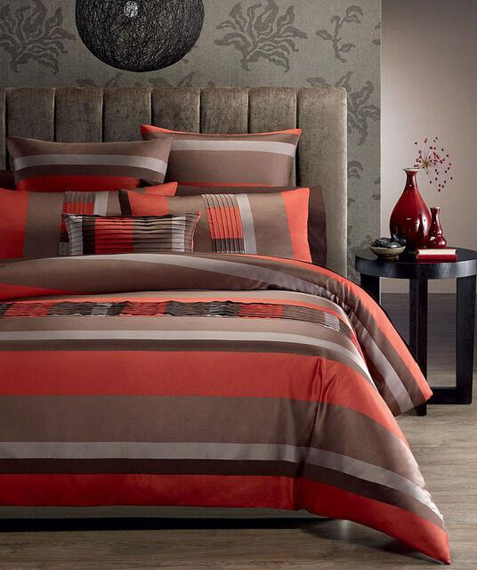 Phase 2 Santa Fe Burnt orange Jacquard DOUBLE Size Quilt Doona Cover Set