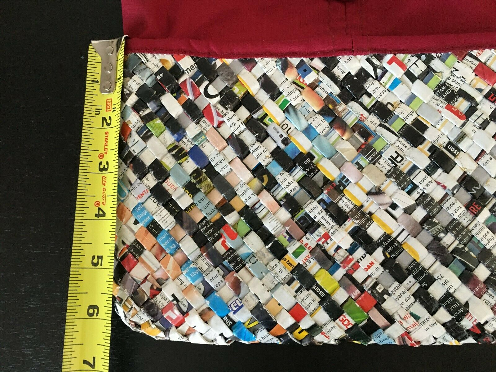 Colorful Recycled Woven Magazine / Newspaper Purs… - image 3