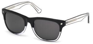 New Authentic DSquared2 LIAM Men's Sunglasses DQ0174 03A 56-19-145 Black Fade
