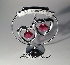 40th Ruby Wedding Anniversary Gift Ideas with Swarovski Crystals SP249