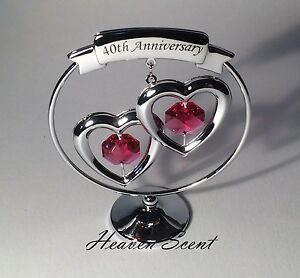 ruby gifts for 40th wedding anniversary
