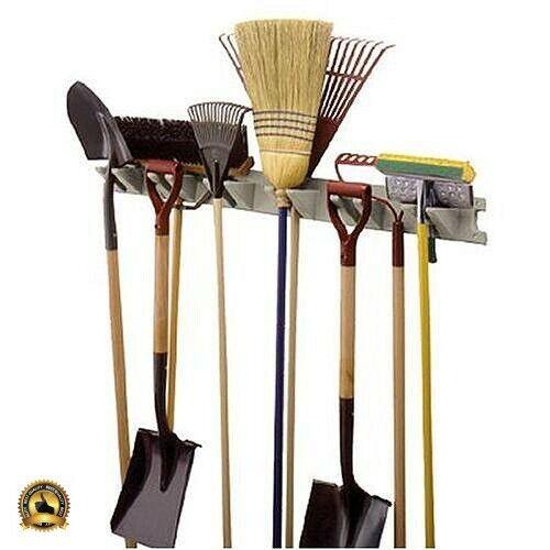 Wall Tool Hanger Storage Organizer Rack Mounted Broom Holder Mop
