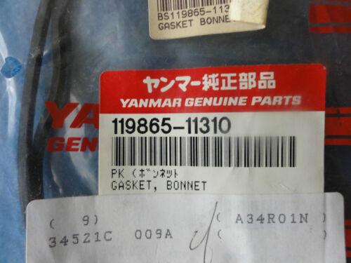 Genuine Yanmar Rocker Cover  Gasket Bonnet Seal  119865-11310