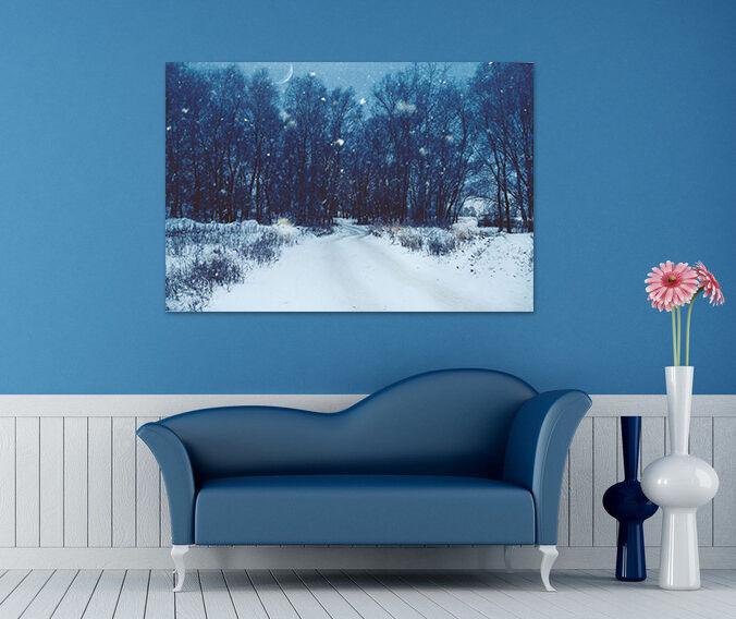 3D Wald schnee 587 Fototapeten Wandbild BildTapete AJSTORE DE Lemon