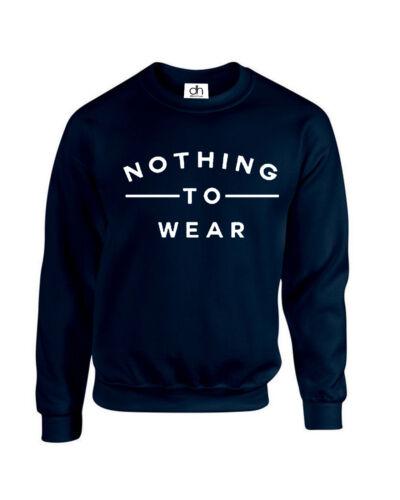 Nulla da indossare Maglione slogan JESS Insta Donna Ragazze Top new.wear, Felpa