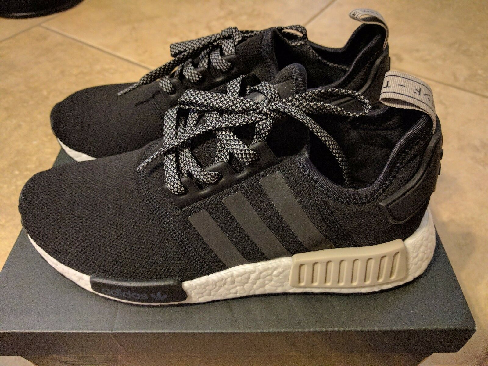 detailed pictures 5f1fa 9f127 Light Black R1 NMD Adidas Beige Brown 8.5 US NEW All ...