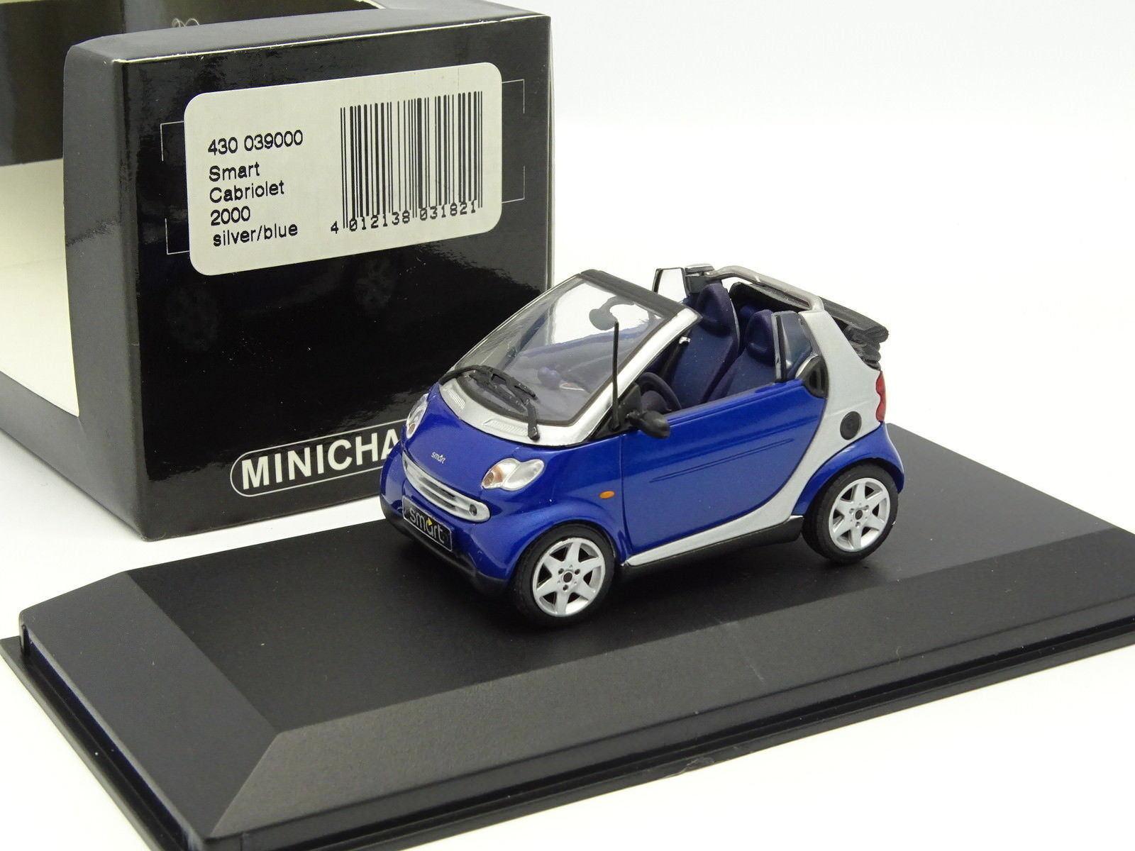 Minichamps 1 43 - Smart Cabriolet 2000 Bleue