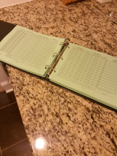 light green or white Pilot Logbook Filler Paper for ProSoft Logbooks Pk 200