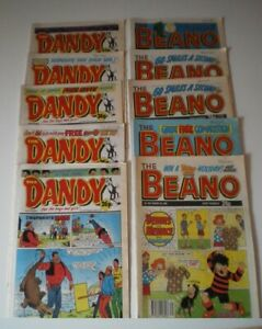 BEANO-and-DANDY-comics-10-vintage-issues-80s-and-90s