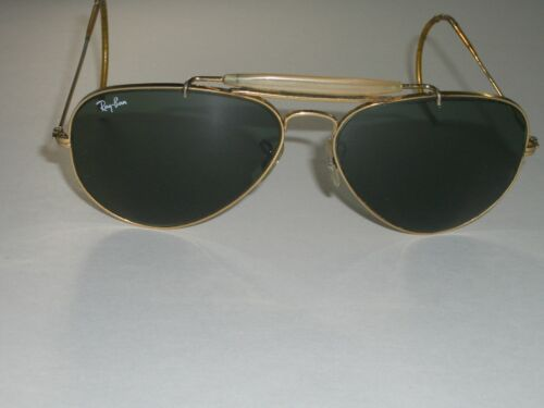 1980's VINTAGE B&L RAY BAN GOLD EP G15 GLASS LENS