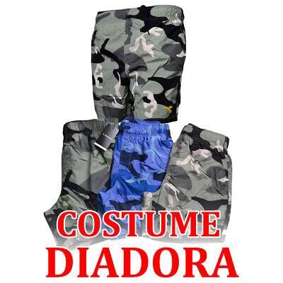Costume da Bagno Diadora Uomo Fantasia Militare Mimetico Mare Boxer Corto