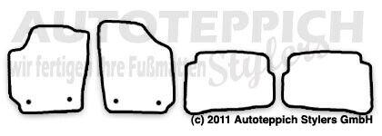Fußmatten meliert für VW Polo 9N3 Cross Bj 2006-2009