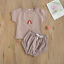 thumbnail 9 - USA Sibling Brother Sister Twin Baby Boy Girl Rainbow Jumpsuit Top Pants Outfits