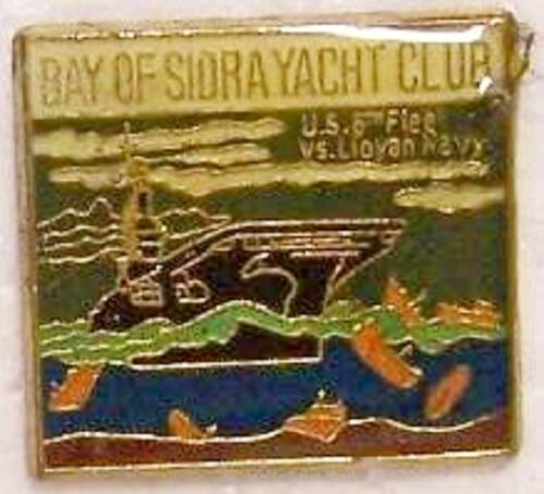 Hat Lapel Push Tie Tac Pin Bay of Sidra Yacht Club NEW