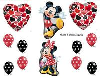 Minnie & Mickey Mouse Disney Happy Birthday Party Balloons Decorations Supplies