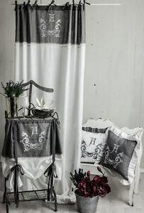 ANNA-WEISS-BESTICKT-Gardine-2Stueck-Vorhang-Romantik-Shabby-Curtain-Landhaus-CHIC