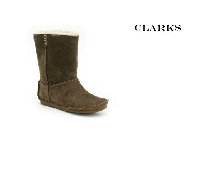 CLARKS Original Faraway Lining Hill Tobacco Suede WOOL Lining Faraway Ankle Boots UK 3 5b5836
