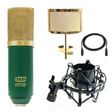 MXL V67-MD1 V67Gs Studio Bundle w/ MXL57 Shock Mount PF005-G Filter Cable