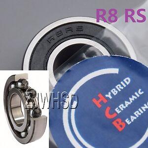 """1//2/"""" x 1-1//8/"""" x 5//16/"""" QTY 10 R8-2RS HYBRID CERAMIC Si3N4 Ball Bearing R8RS"""