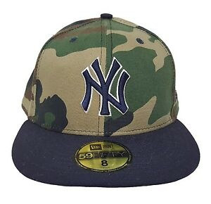 newest 8f676 c94fc Image is loading MLB-New-York-Yankees-Camouflage-New-Era-59FIFTY-