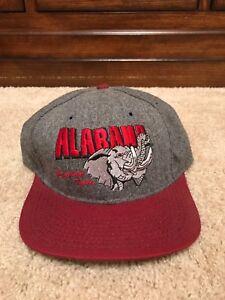 49cadc57c7ce99 Image is loading Vintage-Alabama-Crimson-Tide-Flannel-Snapback-Winter-Hat-